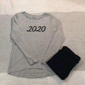 LOFT heather gray 2020 knit top S